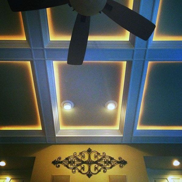 Design Ideas Coffered Ceiling Crown Molding Lighting