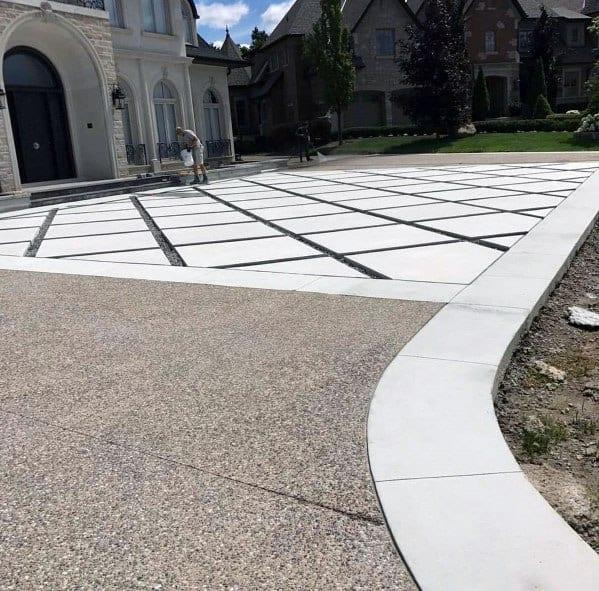Top 50 Best Concrete Driveway Ideas