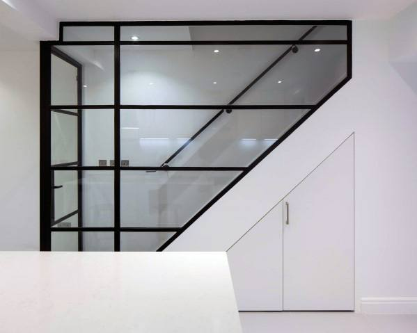 Design Ideas For Basement Stairs With Glass Wall