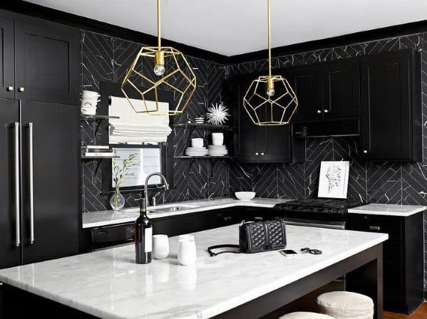 Design Ideas For Black Kitchen Cabinet