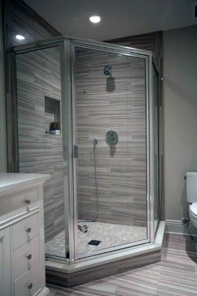 Design Ideas For Corner Shower In Master Bathroon
