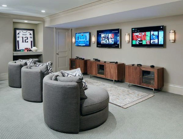 Design Ideas For Finished Basement Video Game Lounge