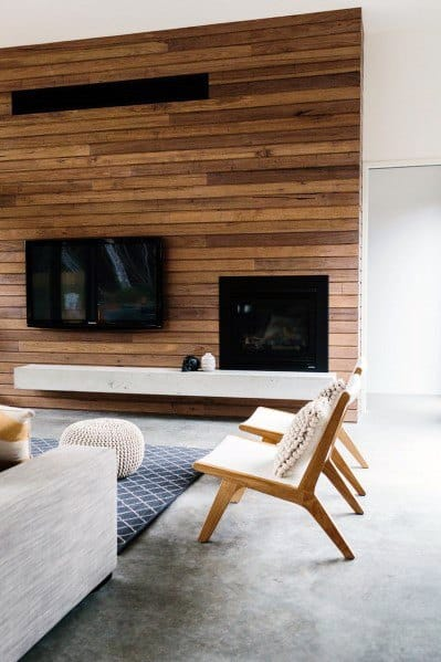 Design Ideas For Hardwood Wall In Living Room