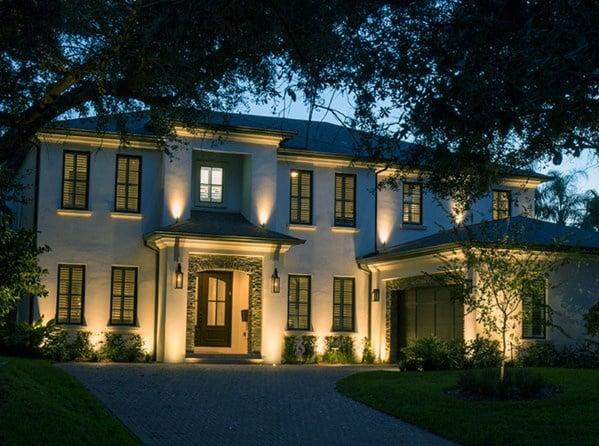 Design Ideas For Landscape Lighting Front Of House
