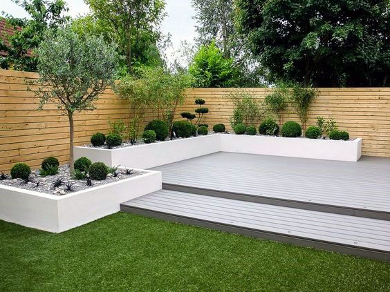 Design Ideas For Modern Deck With Built In Planters