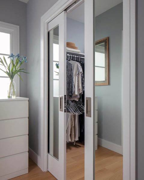 Design Ideas For Sliding Mirror Closet Pocket Door