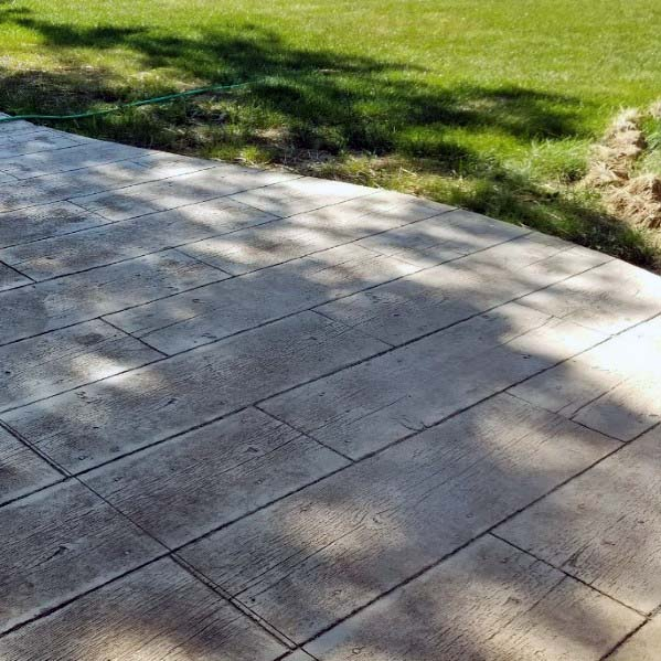 Design Ideas For Stamped Concrete Patio With Woodgrain Look