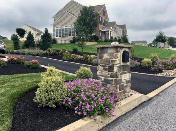 Design Ideas For Stone Mailbox Landscaping