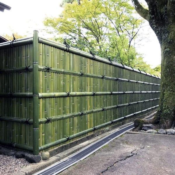 Design Ideas Green Bamboo Fence