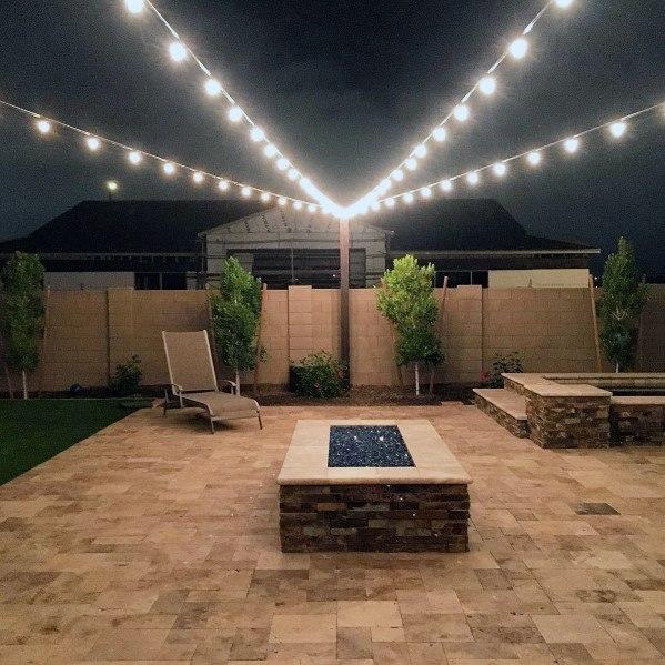 Top 40 Best Patio String Light Ideas - Outdoor Lighting ... on Backyard String Light Designs id=43104
