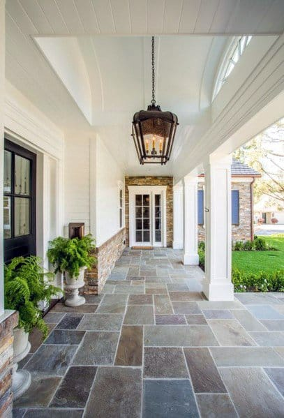 Design Ideas Porch Vaulted Ceiling Painted White