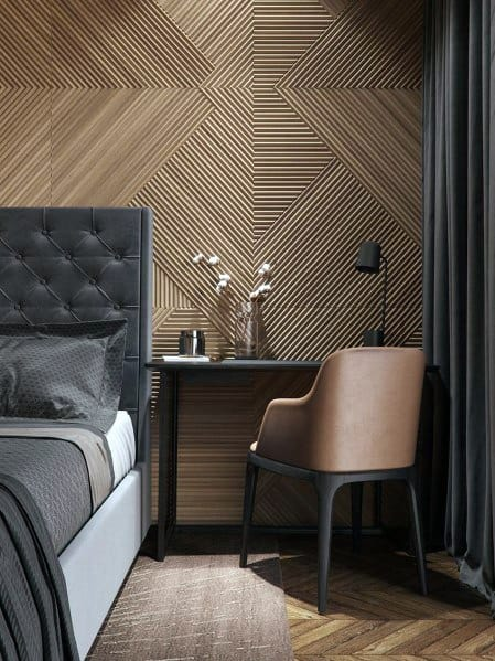 Design Ideas Textured Wall Wood Bedroom