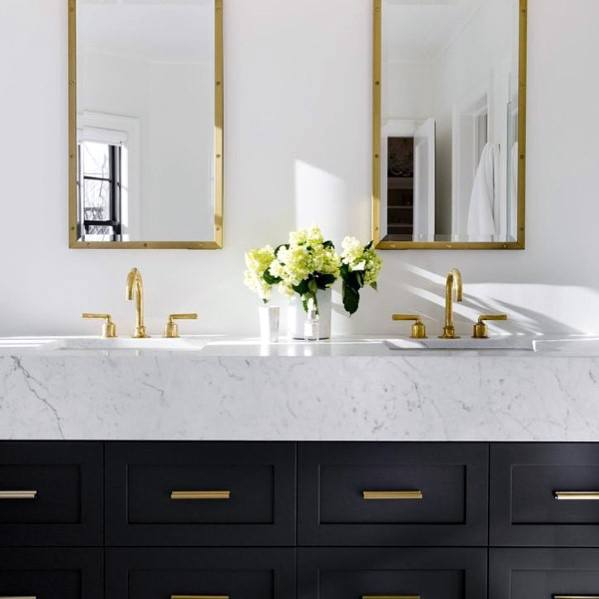 Designs Bathroom Vanity Black Finish With Luxury Marble Top