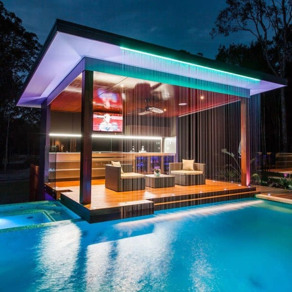 Designs Deck Roof Pool Patio With Led Lighting