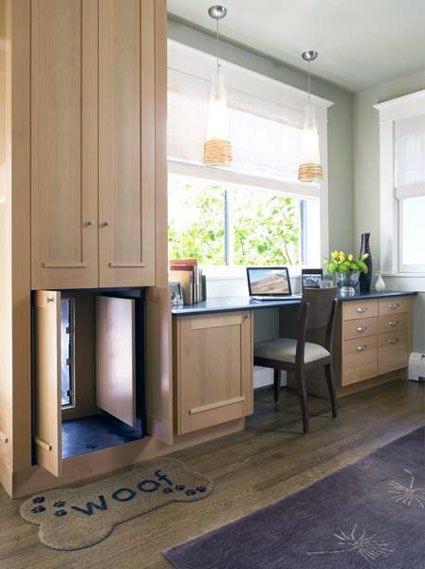 Designs Doggy Door Built Into Cabinet With Hidden Doors
