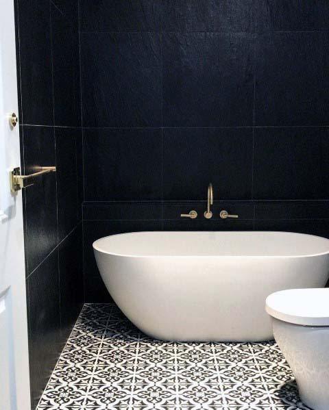 master black and white bathroom ideas