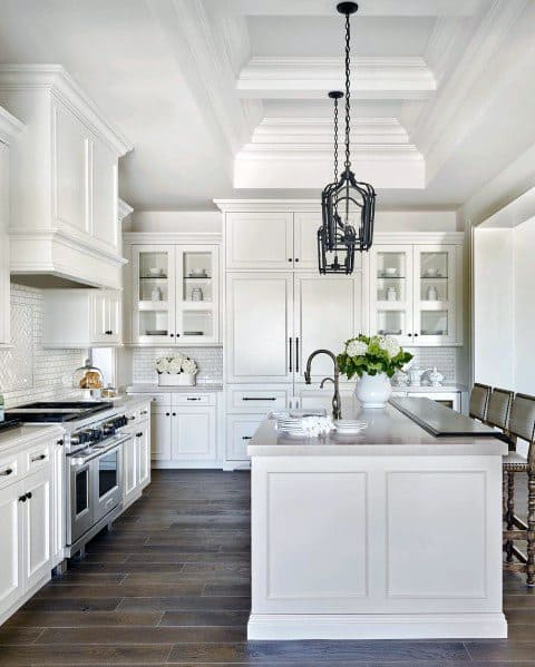 Designs For Crown Molding White Kitchen