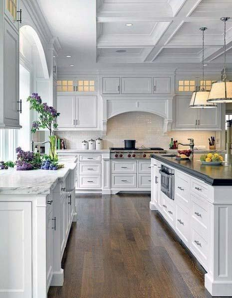 Designs For Kitchen Hood White Wood Trim