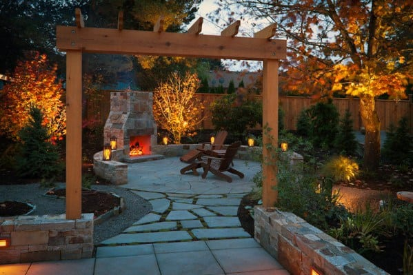 Designs For Landscape Lighting Backyard Patio