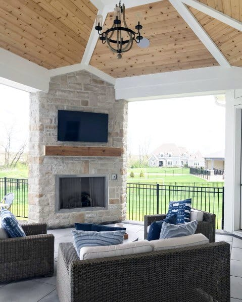 Designs For Patio Fireplace