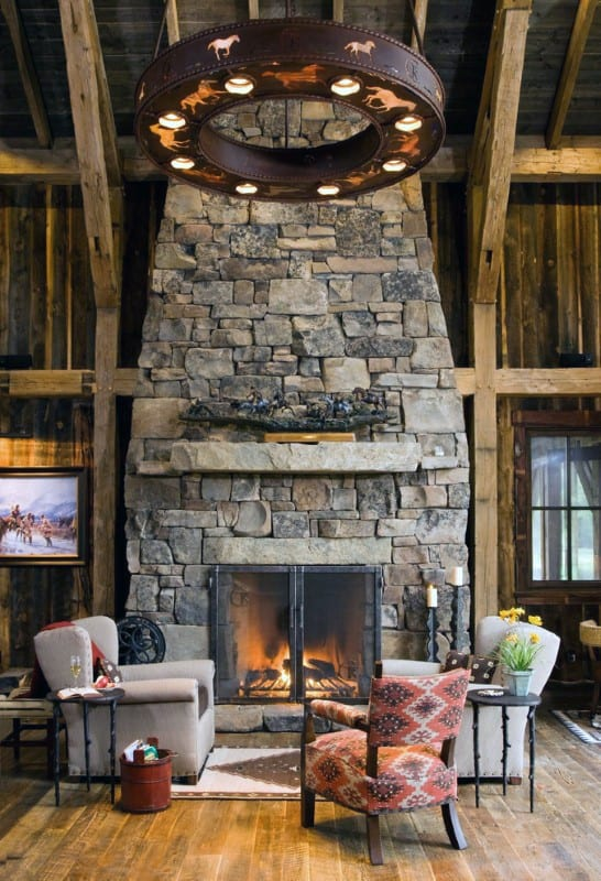 Top 70 best stone fireplace design ideas rustic rock interiors designs for stone fireplaces teraionfo