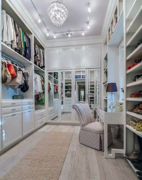 Designs For Track Lighting In Master Closet