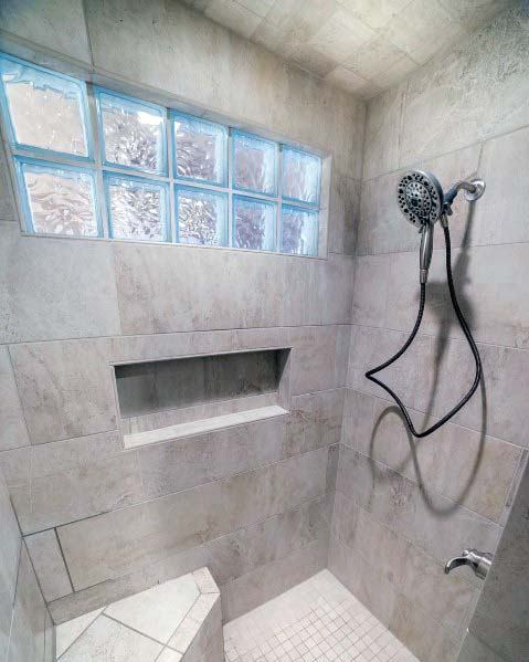 Designs Glass Block Shower Window