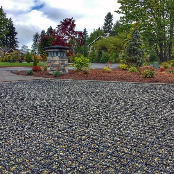 Designs Gravel Driveway With Retaining Grid