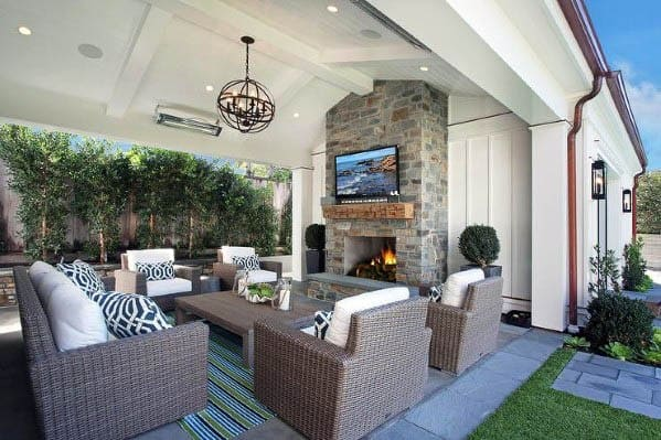 Designs Patio Ceiling Painted White Wooden Beams