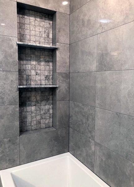 Bathroom Tile Shelf Insert Image Of Bathroom And Closet