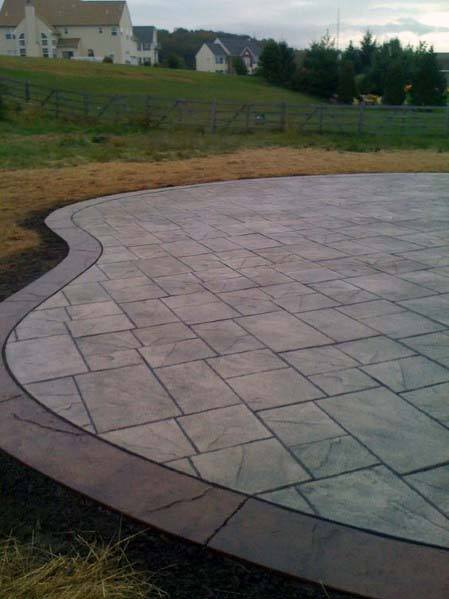 Designs Stamped Concrete Patio