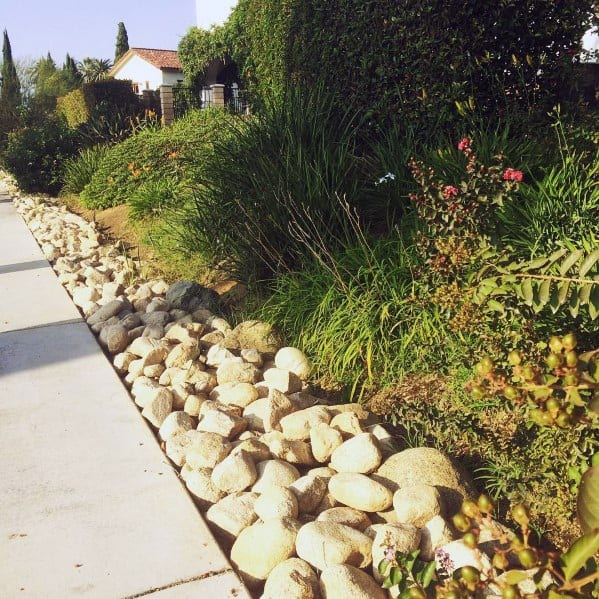 Designs Stone Edging River Rock Landscaping Ideas
