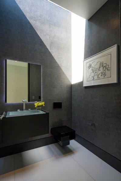 Designs Textured Wall Half Bath Alligator Skin