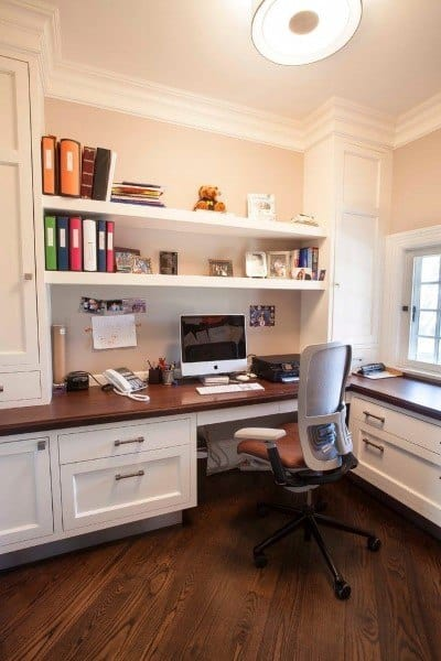Desk Built Into Wall
