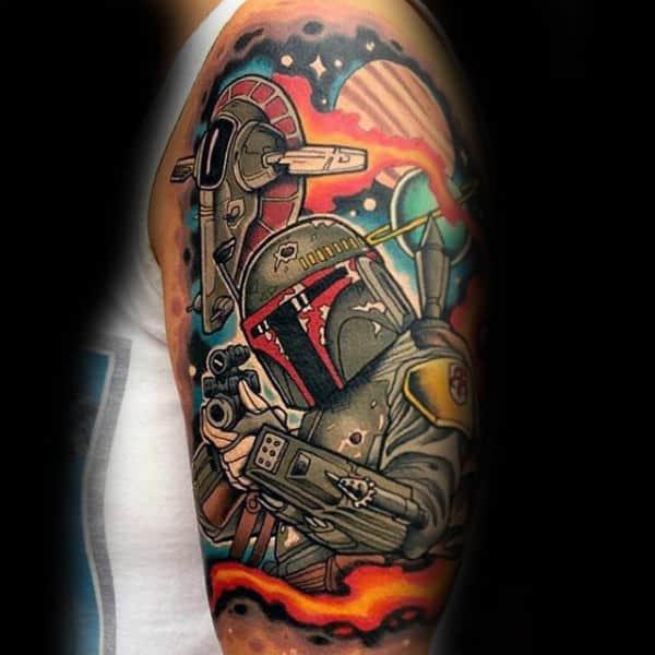 Destruction Tattoo Star Wars Male Arms