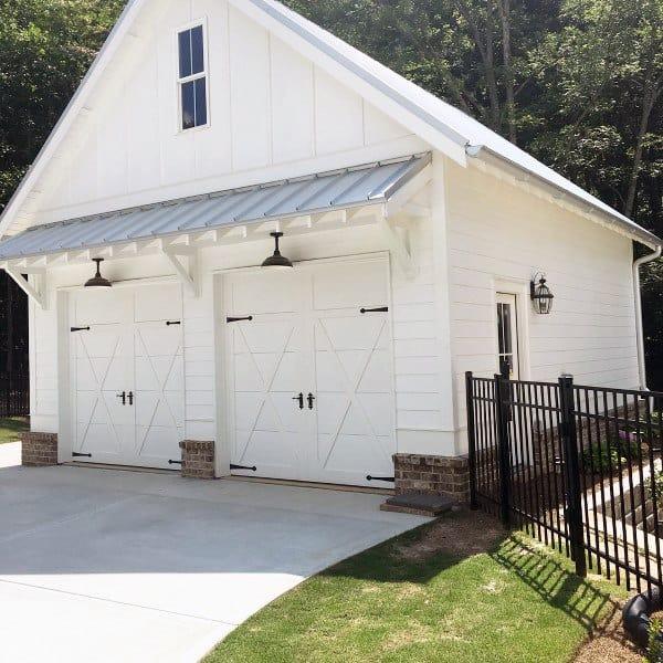 Detached Garage Ideas White
