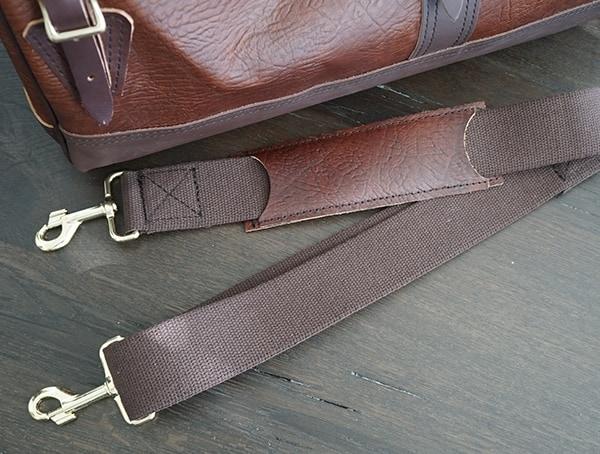 Detached Shoulder Strap Duluth Pack Bison Leather Sportsman Duffel For Men