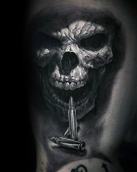 detailed-3d-realistic-guys-unique-skull-with-bullets-arm-tattoo
