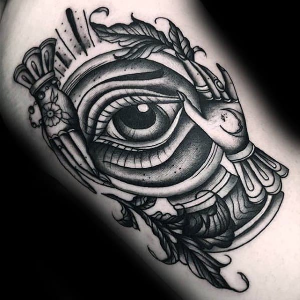 Detailed Arm Crystal Ball Male Tattoos