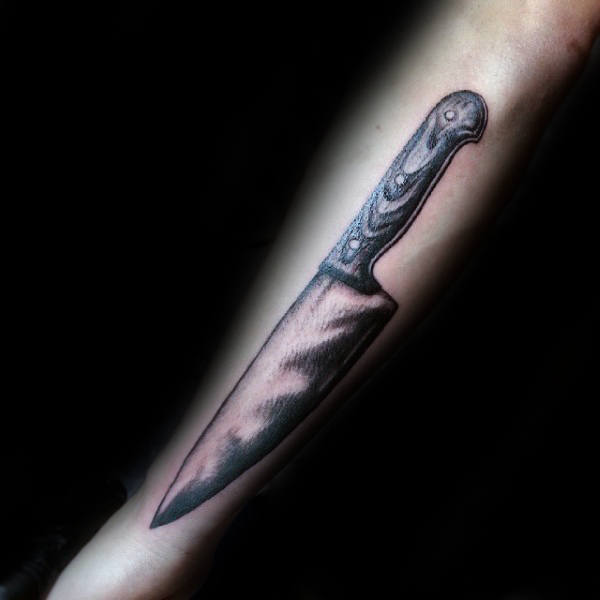 Chef Knife Tattoos, Sketches, and Designs 7