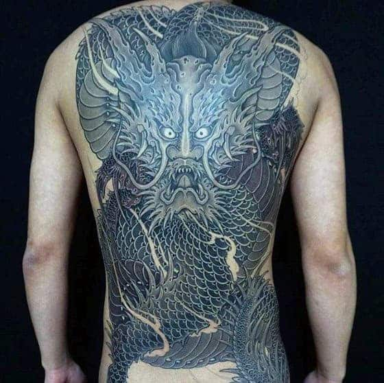 detailed-dragon-japanese-male-back-tattoo