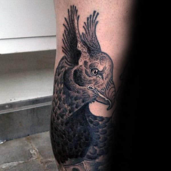 Detailed Forearm Male Griffin Tattoo Design Inspiration