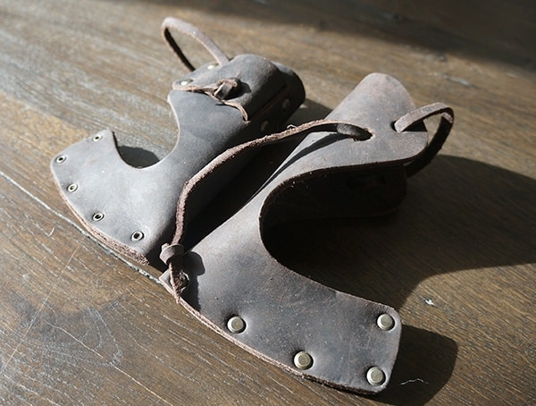 Detailed Hults Bruk Leather Shealths For Axe And Hatchet