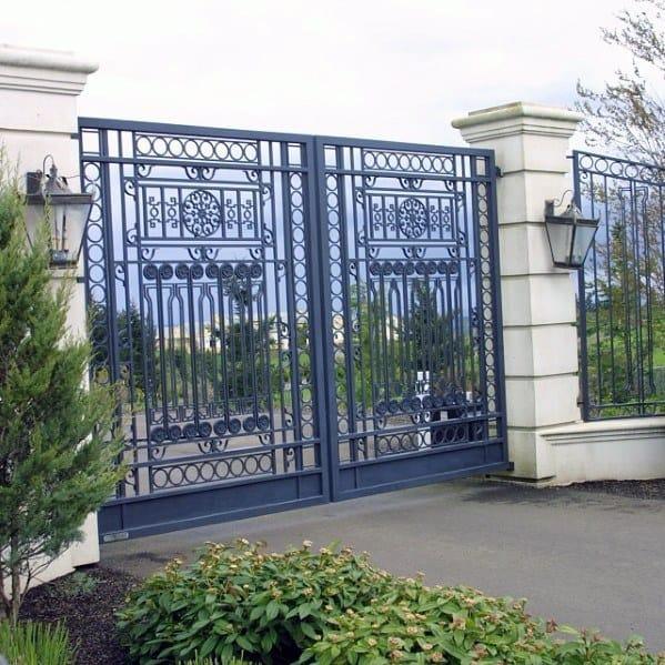 Detailed Iron Driveway Gate Ideas