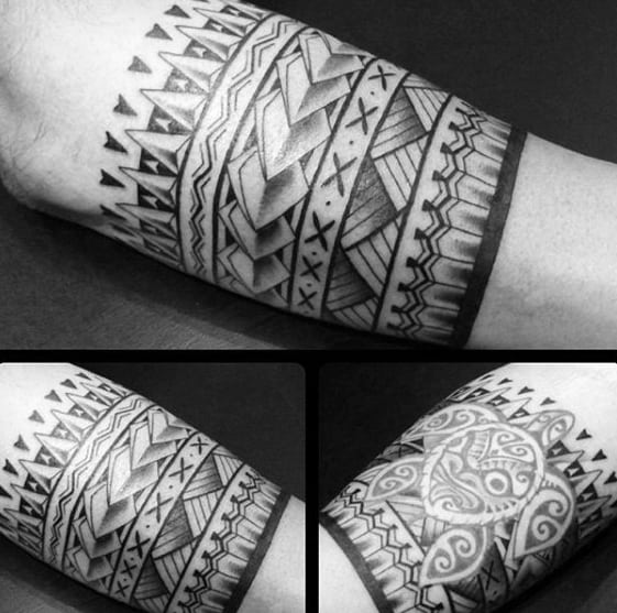 Detailed Mens Armband Tribal Tattoo Inspiration