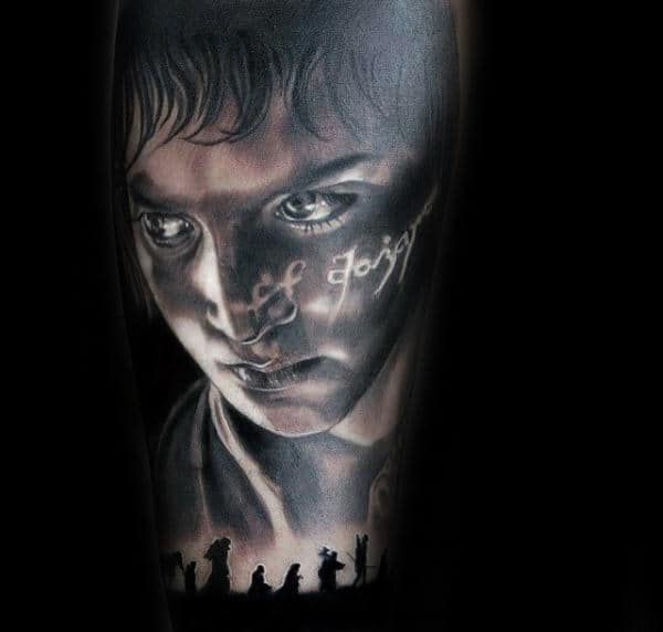 Detailed Mens Lord Of The Rings Sleeve Tattoo Designs