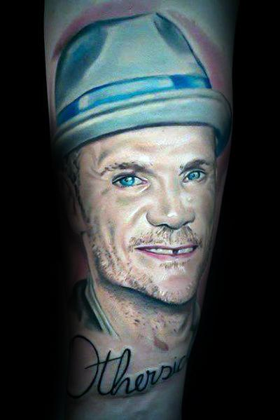 Detailed Mens Red Hot Chili Peppers Tattoo Design Ideas