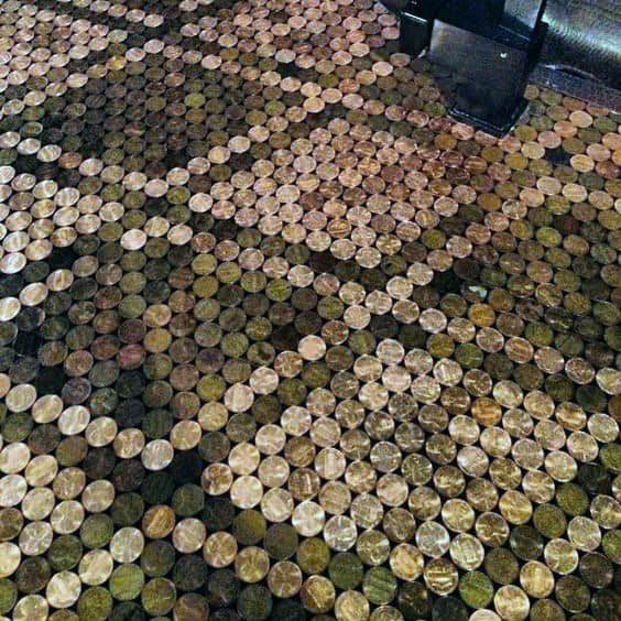 Detailed Penny Floor