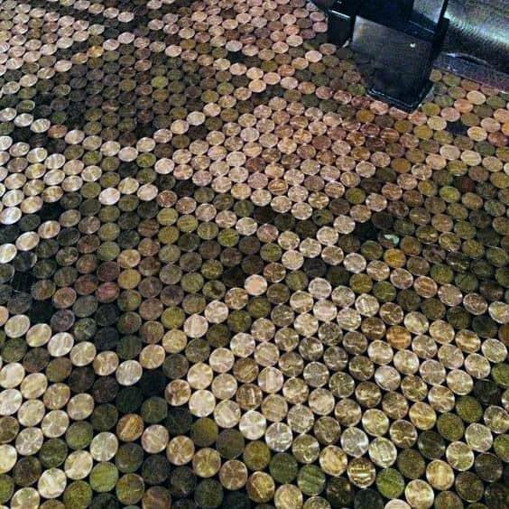 Detailed Penny Floor