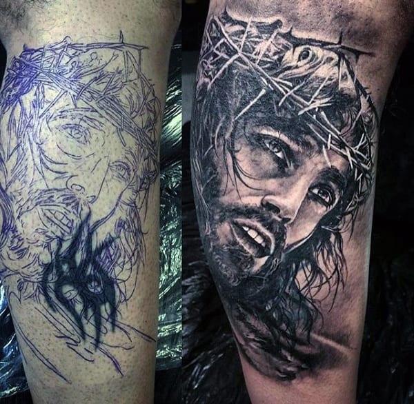 Detailed Religious Tattoo For Men